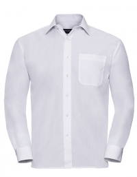 Men`s Sleeve Classic Polycotton Poplin Shirt